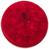 "4"" Round Red Stop Tail Turn Light - 10 LEDs"