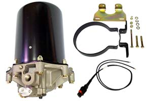 12-Volt AD9 Air Dryer with Mounting Bracket and Wire Harness